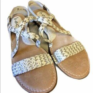 B.O.C. White weave sandals size 8M